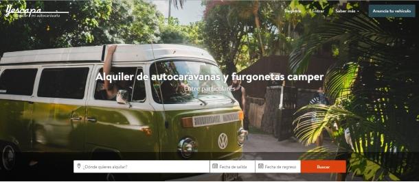 Portada web alquilarmiautocaravana.com